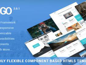 2018官方授权完整JangoV2.0.1最新版 Bootstrap4.X HTML5响应式前端模板